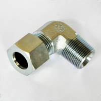 C2501 Flareless tube end / male pipe end SAE 080202 metal compression fitting